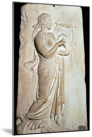 Neo-Attic relief of the Muse Citharide. Artist: Unknown-Unknown-Mounted Giclee Print