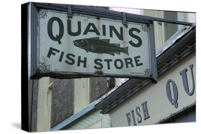 A sign in Youghal, Ireland. Artist: Unknown-Unknown-Stretched Canvas Print