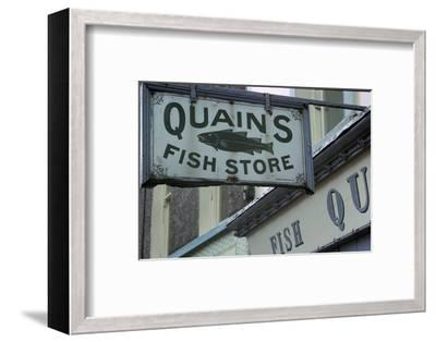 A sign in Youghal, Ireland. Artist: Unknown-Unknown-Framed Photographic Print