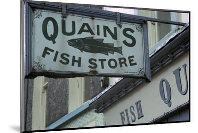 A sign in Youghal, Ireland. Artist: Unknown-Unknown-Mounted Photographic Print
