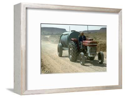 Road-building in Tunisia. Artist: Unknown-Unknown-Framed Photographic Print