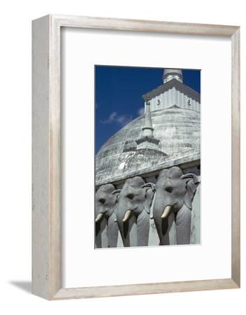 Mirasevti Stupa in Sri Lanka. Artist: Unknown-Unknown-Framed Photographic Print