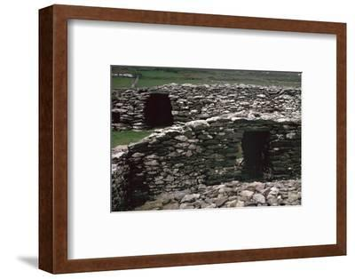 Promontary fort on the Dingle peninsula, 6th century BC. Artist: Unknown-Unknown-Framed Photographic Print