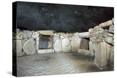 Interior of a passage grave at Fourknocks, 3000 to 2500 BC. Artist: Unknown-Unknown-Stretched Canvas Print