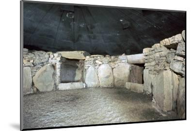 Interior of a passage grave at Fourknocks, 3000 to 2500 BC. Artist: Unknown-Unknown-Mounted Photographic Print