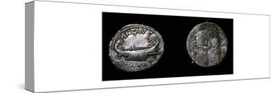 Silver Denarii of the Roman politician Mark Antony, 1st century BC. Artist: Unknown-Unknown-Stretched Canvas Print