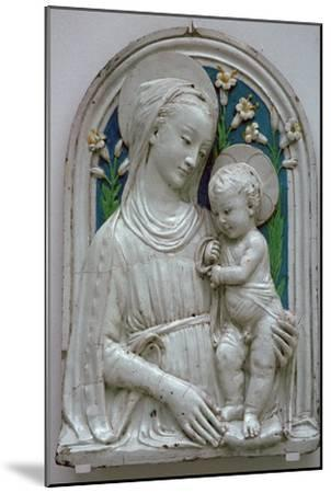 Depiction of the Virgin and Child. Artist: Unknown-Unknown-Mounted Giclee Print