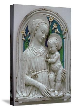 Depiction of the Virgin and Child. Artist: Unknown-Unknown-Stretched Canvas Print