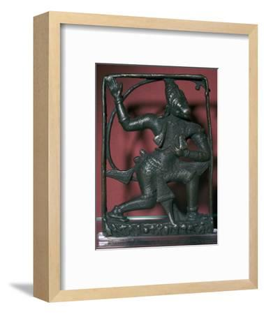 Bronze statuette of the god Hanuman, 11th century. Artist: Unknown-Unknown-Framed Giclee Print