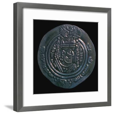 Silver dirham of the governor Abdullah Ibn Khazin, 7th century. Artist: Unknown-Unknown-Framed Giclee Print