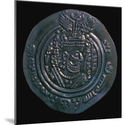 Silver dirham of the governor Abdullah Ibn Khazin, 7th century. Artist: Unknown-Unknown-Mounted Giclee Print