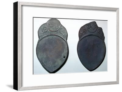 Pair of bronze ritual iron age spoons. Artist: Unknown-Unknown-Framed Giclee Print