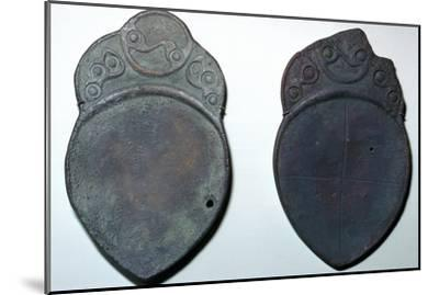 Pair of bronze ritual iron age spoons. Artist: Unknown-Unknown-Mounted Giclee Print