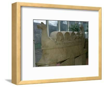 Roman funerary sculpture of a wine-boat. Artist: Unknown-Unknown-Framed Giclee Print