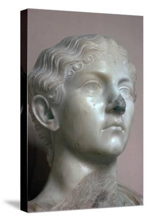 Head of Antonia, the younger daughter of Mark Antony, 1st century. Artist: Unknown-Unknown-Stretched Canvas Print