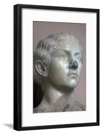 Head of Antonia, the younger daughter of Mark Antony, 1st century. Artist: Unknown-Unknown-Framed Giclee Print