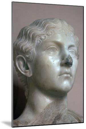 Head of Antonia, the younger daughter of Mark Antony, 1st century. Artist: Unknown-Unknown-Mounted Giclee Print