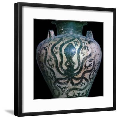 Mycenaean amphora with an octopus, 15th century. Artist: Unknown-Unknown-Framed Giclee Print