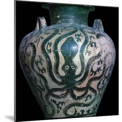 Mycenaean amphora with an octopus, 15th century. Artist: Unknown-Unknown-Mounted Giclee Print