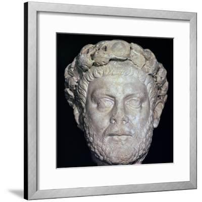 Stone head of Diocletian, 3rd century. Artist: Unknown-Unknown-Framed Giclee Print