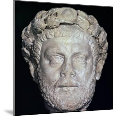 Stone head of Diocletian, 3rd century. Artist: Unknown-Unknown-Mounted Giclee Print