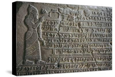 Inscribed tablet of Kilamuwa, King of Sam'al. Artist: Unknown-Unknown-Stretched Canvas Print