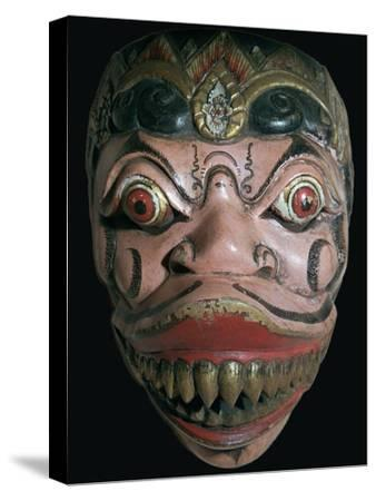 Mask from Java. Artist: Unknown-Unknown-Stretched Canvas Print