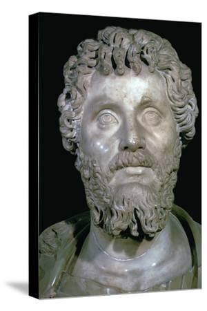 Bust of the Roman Emperor Septimius Severus, 2nd century. Artist: Unknown-Unknown-Stretched Canvas Print