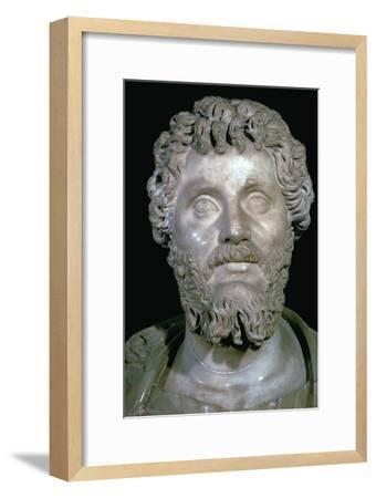 Bust of the Roman Emperor Septimius Severus, 2nd century. Artist: Unknown-Unknown-Framed Giclee Print