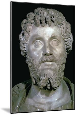 Bust of the Roman Emperor Septimius Severus, 2nd century. Artist: Unknown-Unknown-Mounted Giclee Print