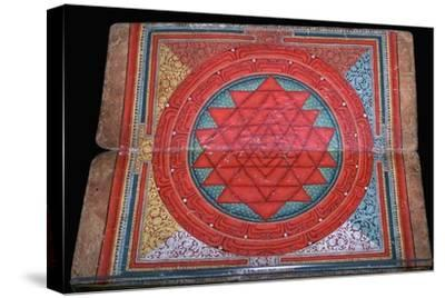 Nepalese yantra painted on manuscript, 16th century. Artist: Unknown-Unknown-Stretched Canvas Print