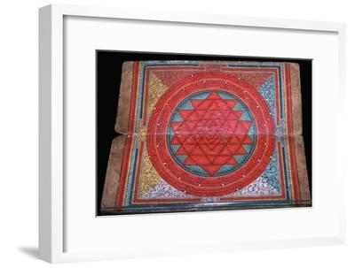 Nepalese yantra painted on manuscript, 16th century. Artist: Unknown-Unknown-Framed Giclee Print