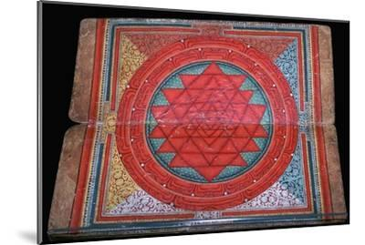 Nepalese yantra painted on manuscript, 16th century. Artist: Unknown-Unknown-Mounted Giclee Print