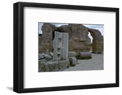 Baths of Antoninus Pius in Carthage, 2nd century. Artist: Unknown-Unknown-Framed Photographic Print