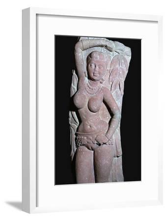 A yakshi (tree-goddess) from a Jain Stupa, 2nd century. Artist: Unknown-Unknown-Framed Giclee Print