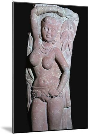 A yakshi (tree-goddess) from a Jain Stupa, 2nd century. Artist: Unknown-Unknown-Mounted Giclee Print