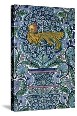 Detail of a tile design in Nabeul, Tunisia. Artist: Unknown-Unknown-Stretched Canvas Print