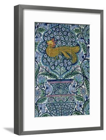 Detail of a tile design in Nabeul, Tunisia. Artist: Unknown-Unknown-Framed Giclee Print