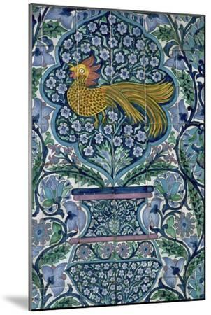 Detail of a tile design in Nabeul, Tunisia. Artist: Unknown-Unknown-Mounted Giclee Print
