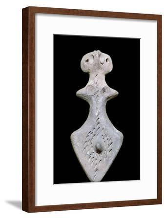 Indian terracotta bisexual figure, 3rd century BC. Artist: Unknown-Unknown-Framed Giclee Print