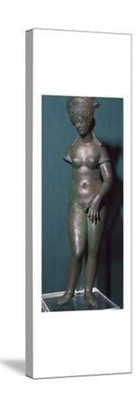 The modest Venus, a Roman bronze statuette, 1st century. Artist: Unknown-Unknown-Stretched Canvas Print