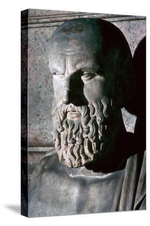 Roman portrait bust of the Greek dramatist Aeschylus, 6th century BC. Artist: Unknown-Unknown-Stretched Canvas Print