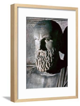 Roman portrait bust of the Greek dramatist Aeschylus, 6th century BC. Artist: Unknown-Unknown-Framed Giclee Print