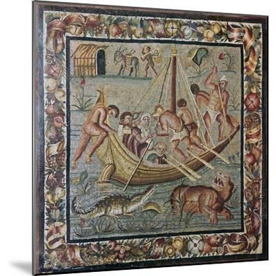 Roman wall mosaic of a ferry-boat, 1st century. Artist: Unknown-Unknown-Mounted Giclee Print