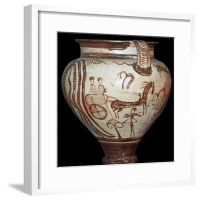 The 'Zeus Krater' of Zeus holding the scales of destiny, 15th century. Artist: Unknown-Unknown-Framed Giclee Print