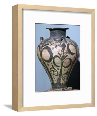 Mycenaean amphora with plant forms, 15th century. Artist: Unknown-Unknown-Framed Giclee Print