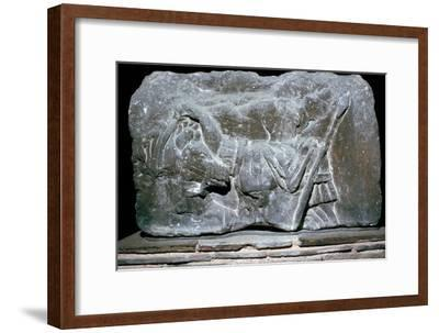 Depiction of Pollux with a horse, 1st century. Artist: Unknown-Unknown-Framed Giclee Print