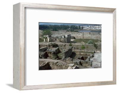The Alcazaba and River Guardiana in Merida. Artist: Unknown-Unknown-Framed Photographic Print