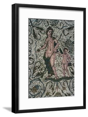 Detail of a Roman floor mosaic in Merida. Artist: Unknown-Unknown-Framed Giclee Print