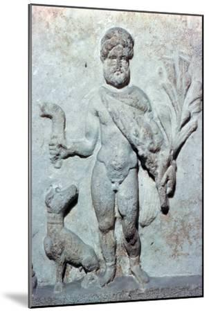 Detail from a stone plinth showing Silvanus, 1st century BC. Artist: Unknown-Unknown-Mounted Giclee Print